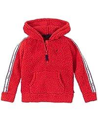Nautica 诺帝卡女童长袖连帽衫 Sherpa Red S7