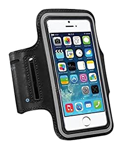Tribe AB37 Water Resistant Sports Armband with Key Holder for iPhone 6, 6S (4.7-Inch), Galaxy S3/S4, iPhone 5/5C/5S, 红色