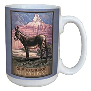 Tree-Free Greetings lm43150 Vintage Grand Canyon National Park Burro by Paul A. Lanquist Ceramic Mug with Full-Sized Handle, 15-Ounce, Multicolored