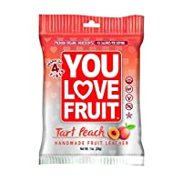You Love Fruit Organic Fruit Leather, Peach, 1 Ounce (Pack of 12)