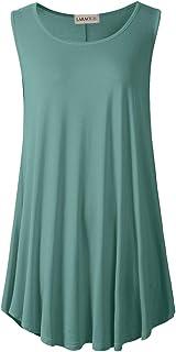 LARACE 女式纯色无袖束腰紧身裤摆喇叭背心