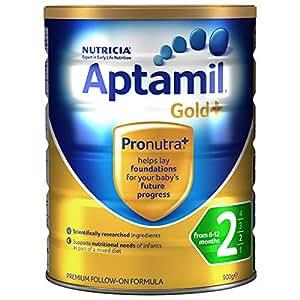 (跨境自营)(包税) Aptamil 新西兰爱他美 金装 婴儿奶粉 2段900g(6-12个月)