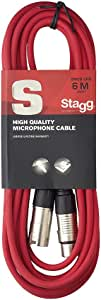 Stagg SMC6 CRD 6 m XLR to XLR Microphone Cable - Red