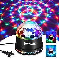 SOLMORE 9 色 LED 迪斯科球派对灯频闪灯 18W 声激活 DJ 灯舞台灯,适用于俱乐部派对礼物儿童生日婚礼装饰家庭卡拉 OK 舞灯(带遥控器)SOLMOREbuychoicesa1616