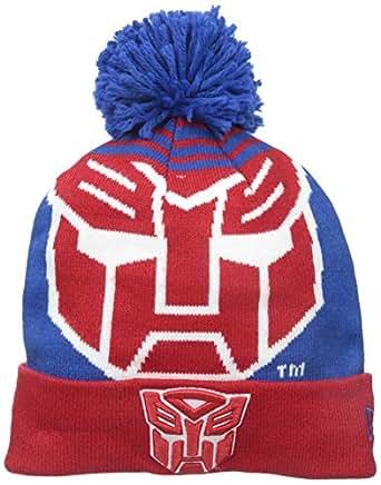 New Era Cap Men's Autobots Logo Whiz Pom Knit Beanie, Blue/Red, One Size
