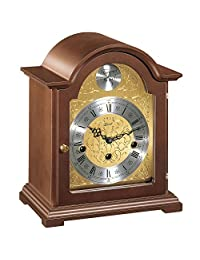 HERMLE 手工制作传统风格的斗篷时钟–棕色饰面 westminster 铃铛