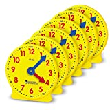 Learning Resources 齿轮时钟,4 英寸,6 只装