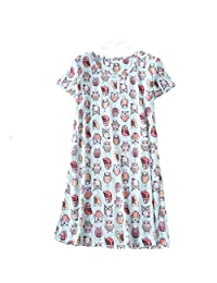 Amoy madrola 女式棉质睡衣短袖休闲印花睡衣