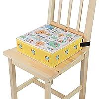 Imarge 儿童坐垫高度可调节 动物世界图案 黄色 安装/维护简单