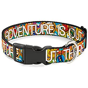 """buckle-down 冒险 IS OUT there / 堆叠式 wilderness EXPLORER badges 塑料夹项圈 NS - Fits 6-9"""" - 0.5"""" Wide"""