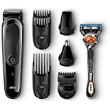 Braun Multi Grooming Kit MGK3060 - 8-in-1 Beard / Hair Trimmer for Men, Precision Face and Head Trimming