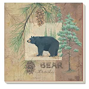 "CounterArt Absorbent Coasters, ""Wilderness Trails-Bear"", Set of 4"