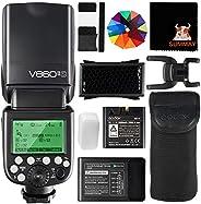 GODOX V860II-S TTL 相机闪光灯 2.4G 1/8000s HSS GN60 带锂电池外置闪光灯闪光灯 适用于索尼相机