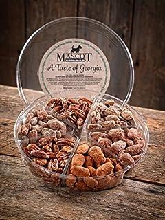 吉祥物山核桃和坚果礼品自1955- 佐治亚山核桃美食礼品篮 大号 - 一处有6种美味品种!