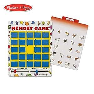 Melissa & Doug 旅行背记游戏 木质游戏板 7主题双面卡片