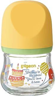 Pigeon 贝亲 宽口径玻璃奶瓶 新生儿婴儿奶瓶 臻宝系列 自然实感 80ml 聚会 SS号奶嘴