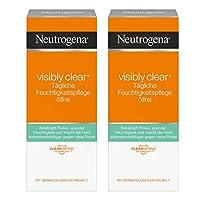 Neutrogena Visibly 透明日常湿度护理乳液 oelfrei | klaerende 带 salicyl 酸适用于这脸适用于日夜 | 2 x 50毫升