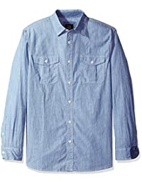Lee 男式长袖弹力系扣衬衫