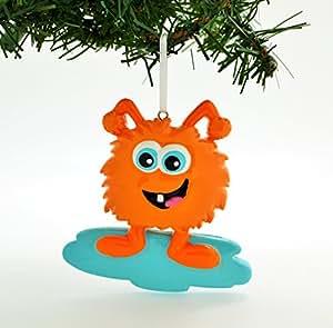 个性化圣诞装饰套装可爱橙色怪兽套装 白色 DO-IT-YOURSELF Kit POLARXK-OR1208-ORG