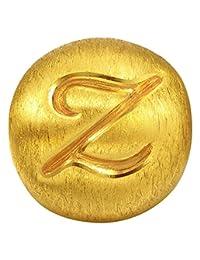 周生生 黄金(足金)Charme串珠系列转运珠字母Z 87639C 【每件串珠送配绳1条,请在下方促销信息中自选并加入购物车】(亚马逊自营商品, 由供应商配送)