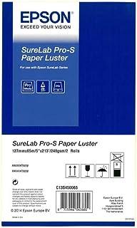 Epson 爱普生 C13S450065 5 英寸 Surelab Pro-S 光泽纸卷(2 件装)