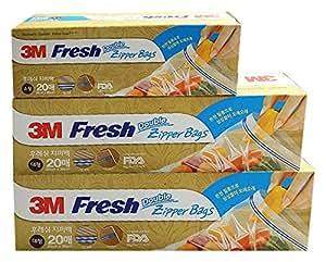 3M 多功能密封袋 组合装(大号2盒+小号1盒)密封加固 韩国原装进口 未添加塑化剂 抽取式盒装(新老包装随机发放)