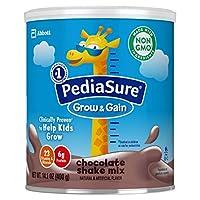 PediaSure 雅培小安素 Grow & Gain 儿童营养奶昔 Non-GMO,含蛋白质、DHA、抗氧化剂、维生素和矿物质,巧克力味,14.1盎司/400克,3件
