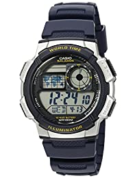 Casio 卡西欧男式'10 年电池'石英树脂手表(型号:AE1000W-2AV)