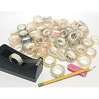 一盒 72 卷美丽的内部设计透明胶带,1/2 x 787 英寸,透明胶粘隐形胶带替换卷,适用于办公室、家庭、学校、DIY、艺术和工艺品