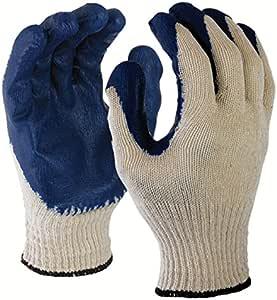 Azusa 涤纶/棉*手套,L 码,白色/蓝色 超大 L22110B XL