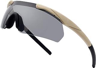 户外战术眼镜,带 3 个可更换镜片,高抗冲击射击眼镜,中性*眼镜 - 防雾 UV400 *保护太阳镜,适合狩猎、骑行、驾驶、紧凑