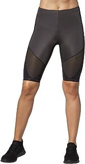 CW-X 中腰 Stabilyx 通风冷却压缩运动短裤,炭灰色/黑色针脚