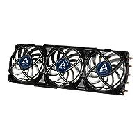 ARCTIC Accelero VGA 散热器 - nVidia & AMD,3 Quiet 92mm PWM 风扇,SLI/CrossFire 黑色
