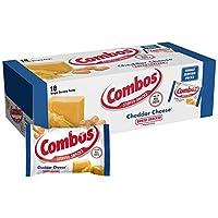 Combos Cheddar 奶酪饼干烘焙零食 1.7 盎司袋装 18 个装