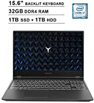 2020 Lenovo Legion Y540 15.6 英寸 FHD 1080P 游戏笔记本电脑(英特尔六核 i7-9750H 高达4.5GHz,NVIDIA GeForce GTX 1650 4GB,32GB DDR