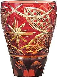 东洋佐佐木玻璃 玻璃杯 红色 355ml 彩花切子 红色 HG210-14R