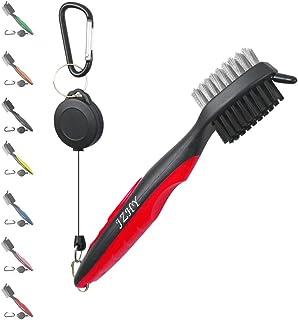 JZHY 2 只装高尔夫球杆,轻质 2 英尺可伸缩高尔夫刷和俱乐部凹槽清洁器,带拉链式铝合金钩