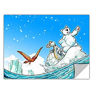ArtWall ArtApeelz Luis Peres 'Polar 1' Removable Wall Art Graphic, 24 by 32-Inch