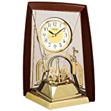 精工时钟置き時計模拟旋转装饰茶金属 by426b Seiko