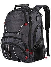 17 英寸笔记本电脑背包,超大耐用 TSA 电脑背包,男女适用1114CAM  X大码