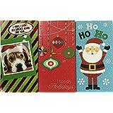 Greenbriar 共24个圣诞节礼品卡袋,带现金&卡信封;8种样式混装,每种3个(Santa Bright)