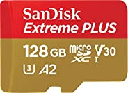 SanDisk Extreme Plus microSDXC Class 10 存儲卡 帶 SD 適配器 Gold/Rot 128GB