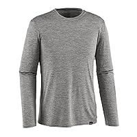 Patagonia 男式 防晒长袖 运动健身速干衣 Polygiene银离子除味 升级款C1 Cap Daily L/S T-Shirt 45261