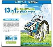 构建您自己的太阳能机器人套件杆玩具科学礼物搭建机器人科学工具箱机器人工程 适合男孩和女孩