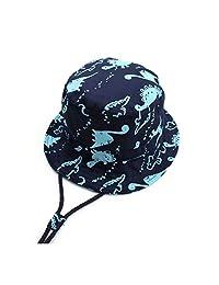 恐龙渔夫帽游泳儿童 - UV 幼童太阳帽夏季户外