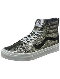 VANS 范斯 硫化鞋 女 板鞋SK8-Hi Slim Zip VN0A349CLY304000M 金色/白色 35 (US 4)