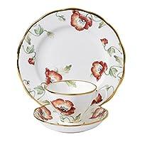 Royal Albert 百年纪念1970茶杯,茶托,盘子三件套装 多色