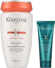KERASTASE 卡诗 滋养恒护洗发水2号250ml+丝韧焕活调理乳75ml(进)