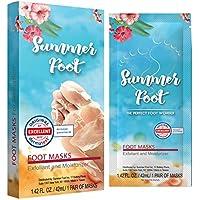 Summer Foot 优质脚面膜适用于柔软婴儿脚 | 仅使用一次即可去角质*去角质去除 Callus & 修复粗糙的* | 经德国测试,*佳效果