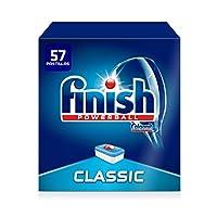 Finish Classic Dishwasher Tablets Regular 57 Pastillas, Pack of 1